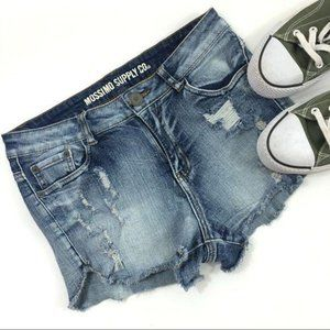 Mossimo Cut Off Distressed Jean Shorts 9